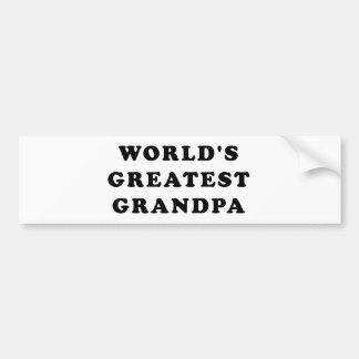 World's Greatest Grandpa Bumper Stickers