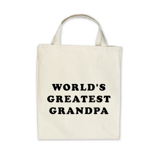 World's Greatest Grandpa Canvas Bags