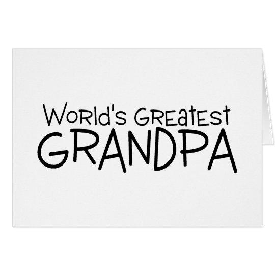 Worlds Greatest Grandpa Card