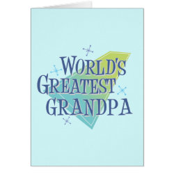 Note Card with World's Greatest Grandpa design