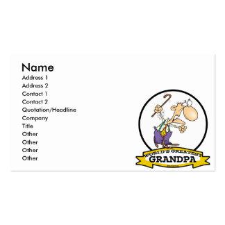 WORLDS GREATEST GRANDPA CARTOON BUSINESS CARDS