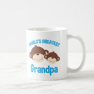 World's Greatest Grandpa Cute Monkeys Mug