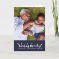 World's Greatest Grandpa Father's Day Photo Card
