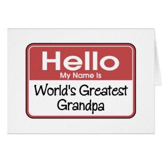 World's Greatest Grandpa Gift Greeting Card
