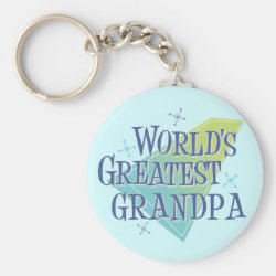 Basic Button Keychain with World's Greatest Grandpa design