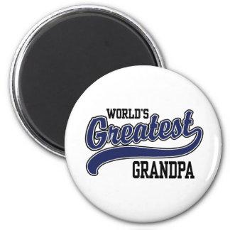 World's Greatest Grandpa Refrigerator Magnets