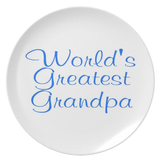 Worlds Greatest Grandpa Melamine Plate