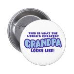 World's Greatest Grandpa Pinback Buttons