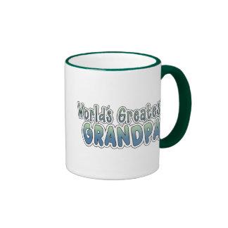 World's Greatest Grandpa Ringer Coffee Mug