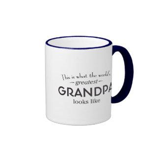 World's Greatest Grandpa Ringer Mug