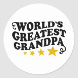 World's Greatest Grandpa Round Sticker