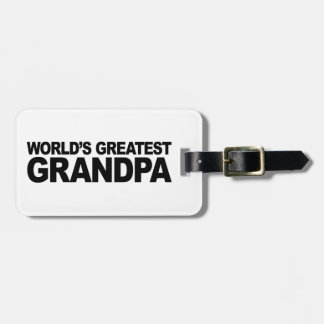 World's Greatest Grandpa Tag For Luggage