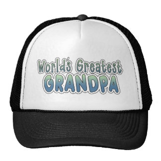 World's Greatest Grandpa Words Mesh Hats