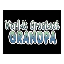World's Greatest Grandpa Words Postcard