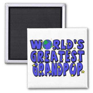 World's Greatest Grandpop Fridge Magnets