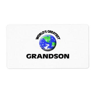 World's Greatest Grandson Shipping Label