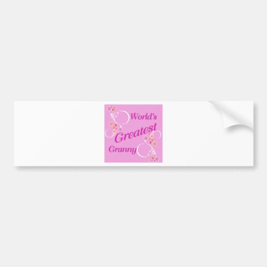 World's Greatest Granny Bumper Sticker
