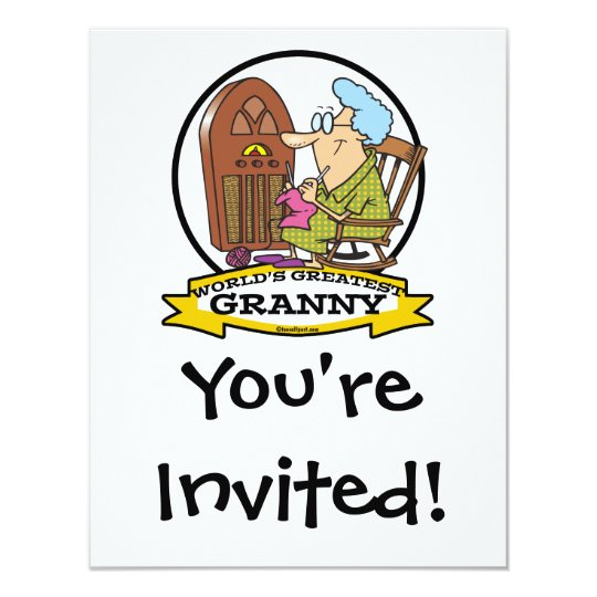 WORLDS GREATEST GRANNY CARTOON CARD