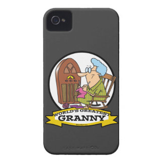WORLDS GREATEST GRANNY CARTOON iPhone 4 Case-Mate CASE