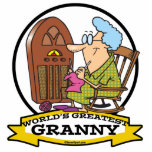 WORLDS GREATEST GRANNY CARTOON PHOTO CUTOUTS