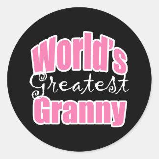 Worlds Greatest Granny Classic Round Sticker