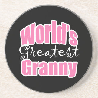 Worlds Greatest Granny Drink Coasters