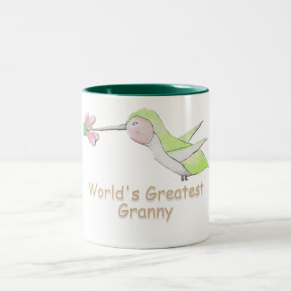 World's Greatest Granny Hummingbird Mug