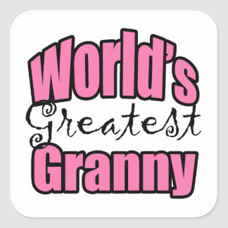 Worlds Greatest Granny Square Sticker