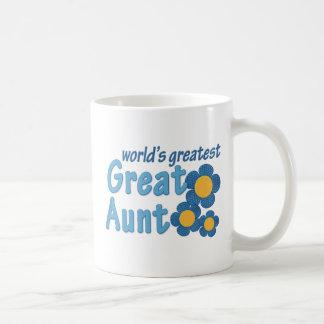 World's Greatest Great Aunt Fabric Flowers Coffee Mug