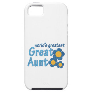 World's Greatest Great Aunt Fabric Flowers iPhone SE/5/5s Case