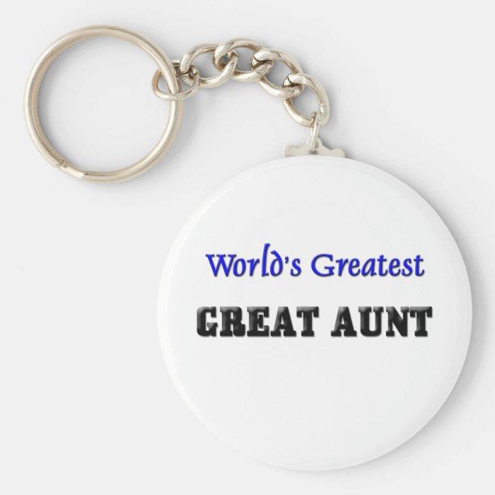 World's Greatest Great Aunt Keychain