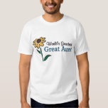 World's Greatest Great Aunt T-shirts