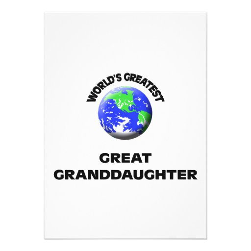 World's Greatest Great Granddaughter Announcement
