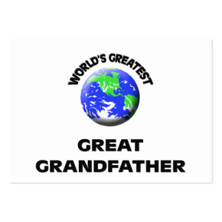 World's Greatest Great Grandfather Business Card