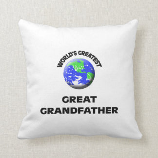 World's Greatest Great Grandfather Throw Pillows