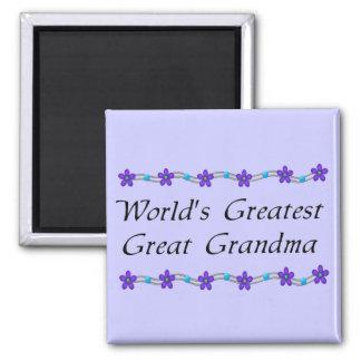 World's Greatest Great Grandma 2 Inch Square Magnet