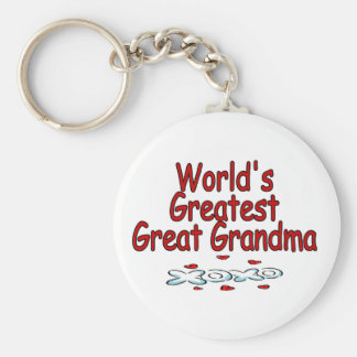 World's Greatest Great Grandma Basic Round Button Keychain