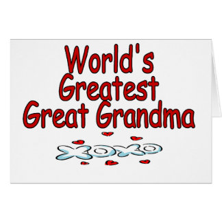 World's Greatest Great Grandma Card
