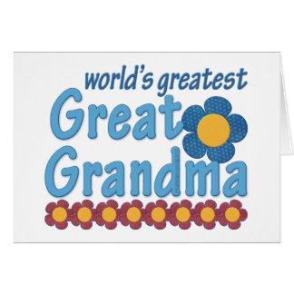 World's Greatest Great Grandma Fab Card