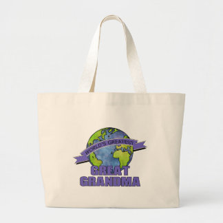 World's Greatest Great Grandma Large Tote Bag
