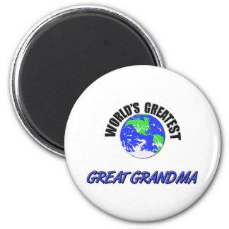 World's Greatest Great Grandma Refrigerator Magnets