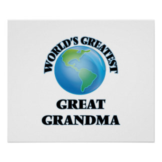 World's Greatest Great Grandma Poster