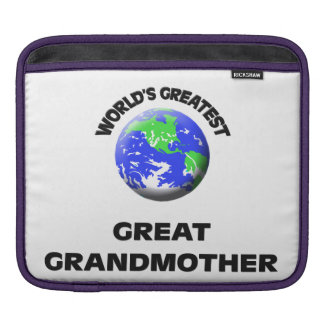 World's Greatest Great Grandmother Sleeves For iPads