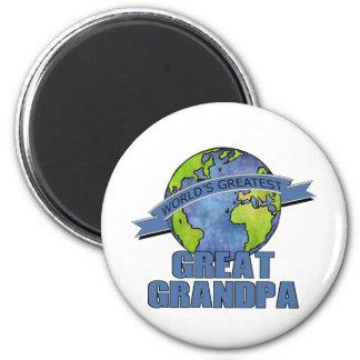 World's Greatest Great Grandpa 2 Inch Round Magnet
