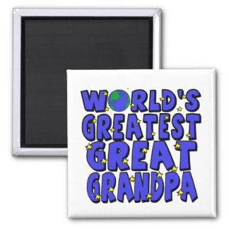 World's Greatest Great Grandpa Refrigerator Magnets