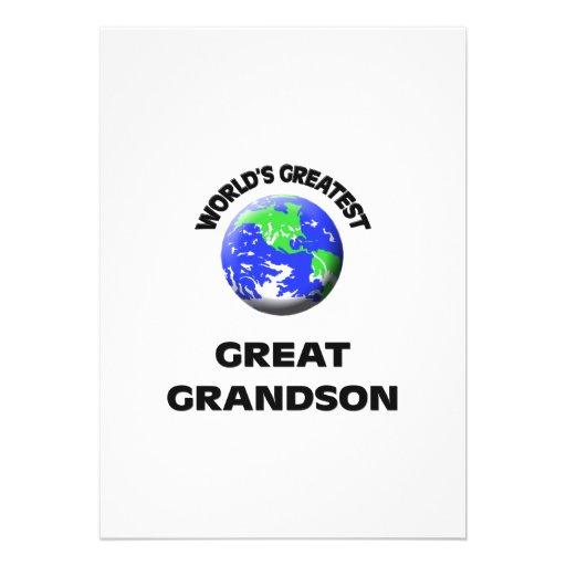 World's Greatest Great Grandson Custom Invites