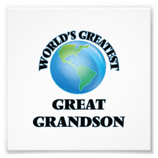 World's Greatest Great Grandson Photo Print