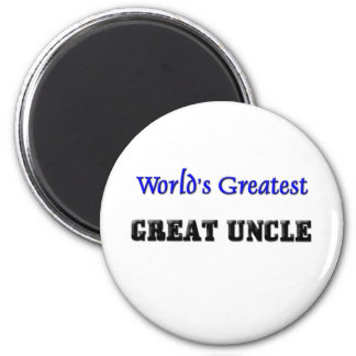 World's Greatest Great Uncle 2 Inch Round Magnet