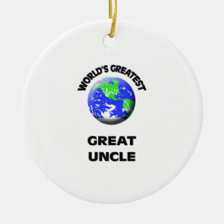 World's Greatest Great Uncle Ceramic Ornament