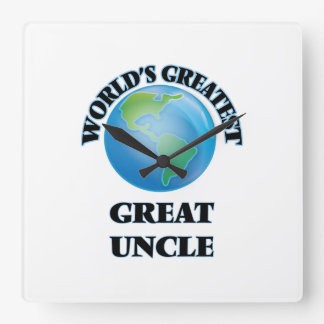 World's Greatest Great Uncle Square Wall Clocks